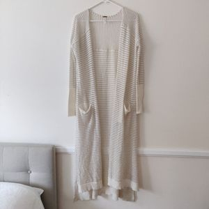 Free People Long Striped Cardigan